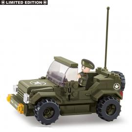 Sluban Army jeep allied star M38-70207
