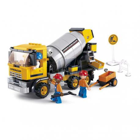 Town construction cement mixer truck