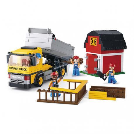 Sluban town construction dumper truck