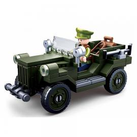 Sluban WWII allied light truck M38-B0682